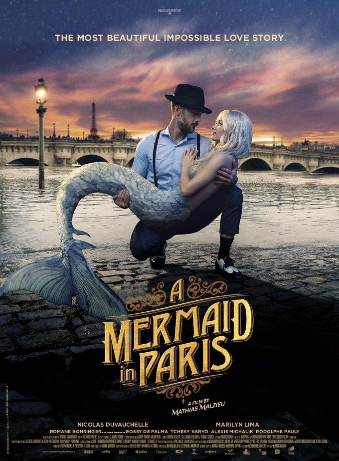 A Mermaid In Paris Poster