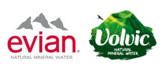 Evian Volvic Logo