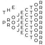 23. The Projector Logo Solid Black On White